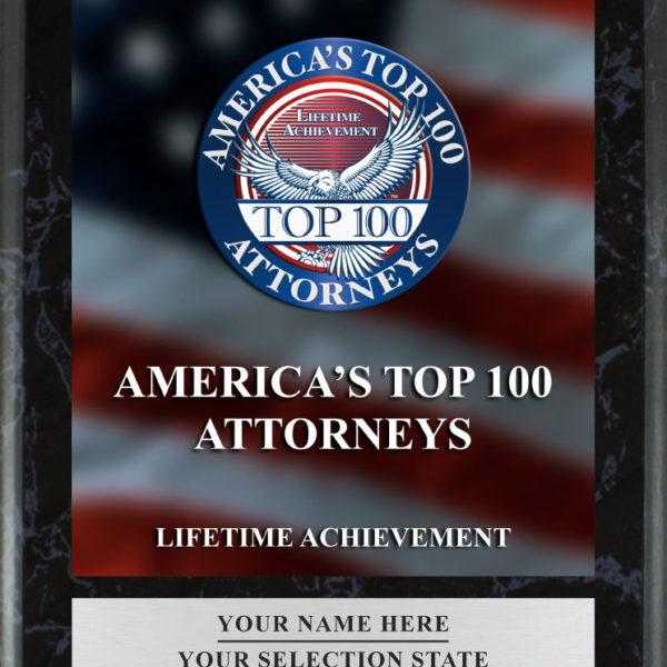 Lifetime Achievement Plaque